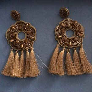Large gold earrings